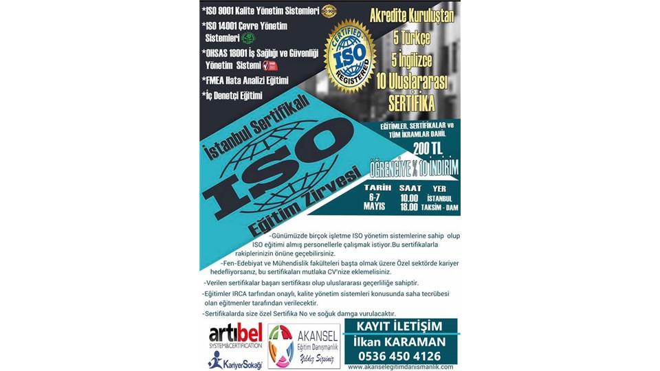 İstanbul Sertifikalı ISO Eğitim Zirvesi