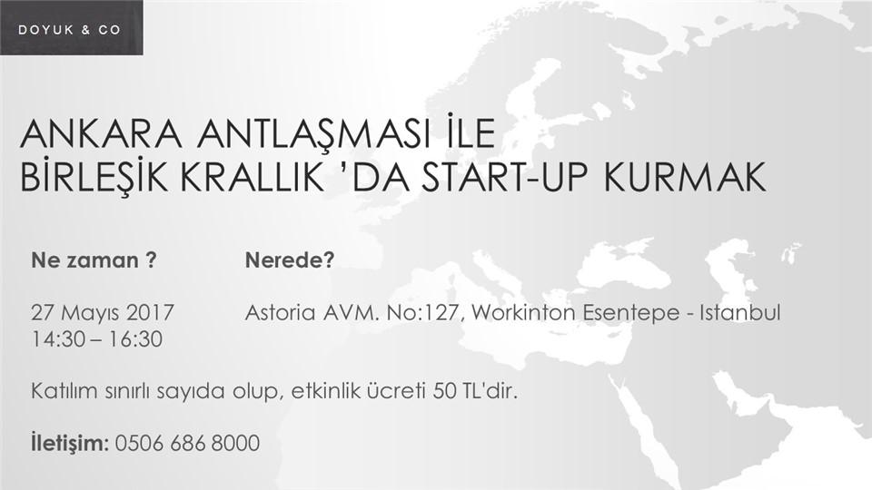 Ankara Antlaşması İle Birleşik Krallık'da Start-Up Kurmak (14:30-16:30)