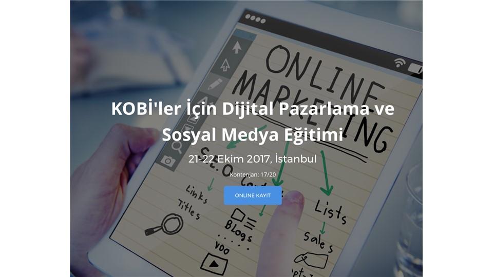 KOBİ'ler İçin Dijital Pazarlama ve Sosyal Medya Eğitimi
