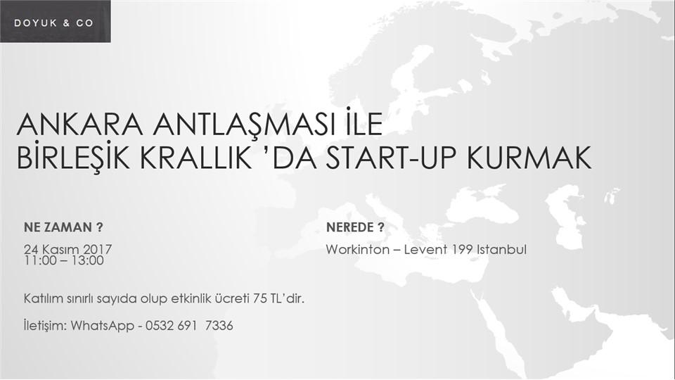 Ankara Antlaşması ile Birleşik Krallık'da Start-up Kurmak