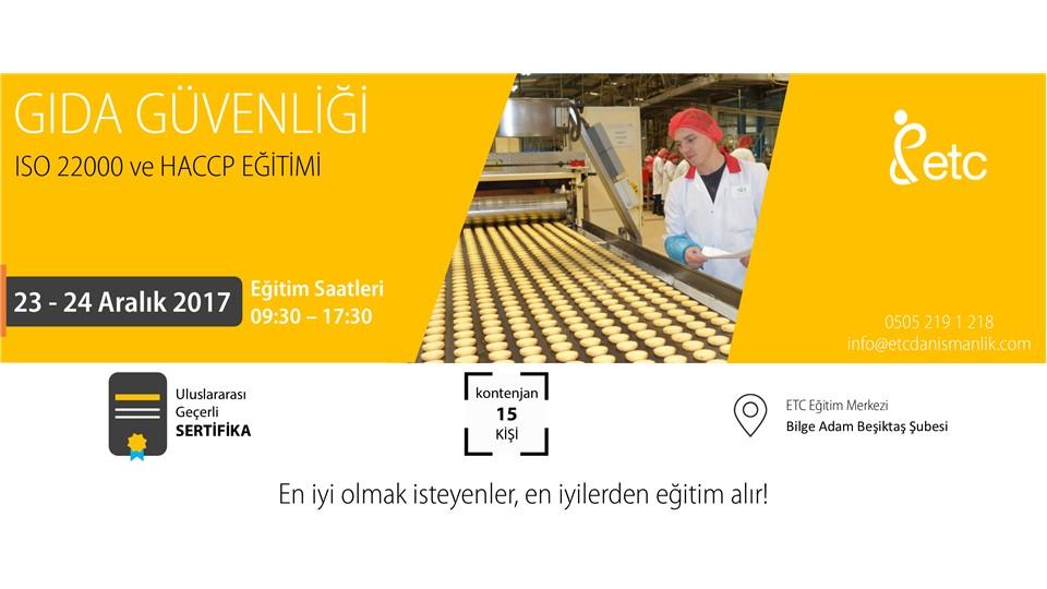 ISO 22000 ve HACCP Eğitimi