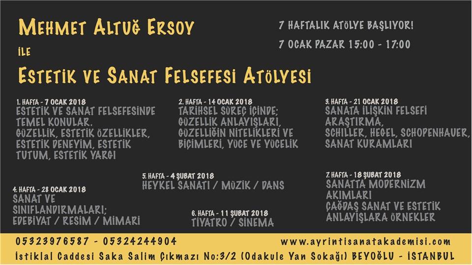 Mehmet Altuğ Ersoy ile Estetik ve Sanat Felsefesi Atölyesi