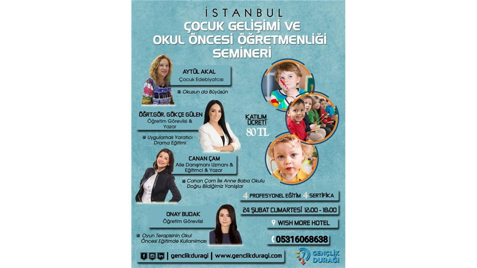 İstanbul Çocuk Gelişimi ve Okul Öncesi Öğretmenliği Semineri