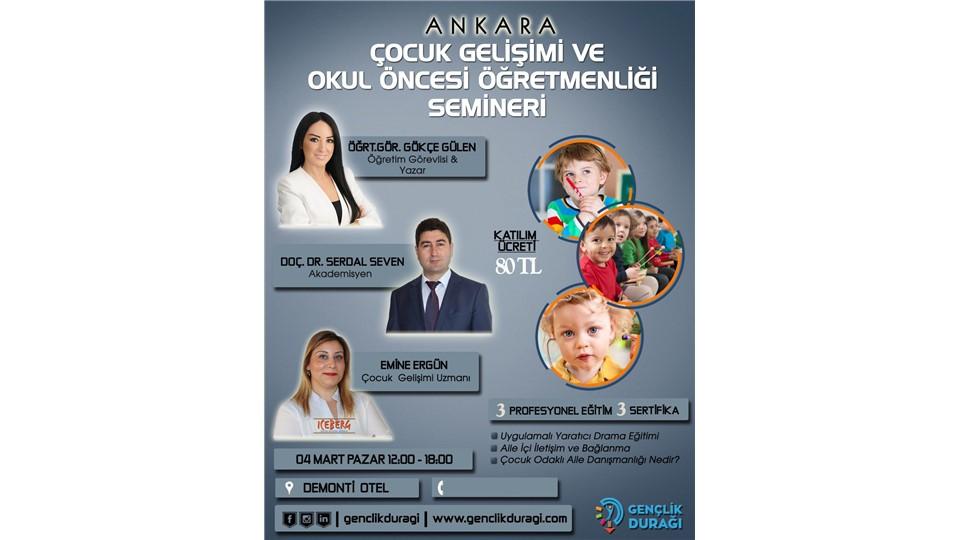 Ankara Çocuk Gelişimi ve Okul Öncesi Öğretmenliği Semineri