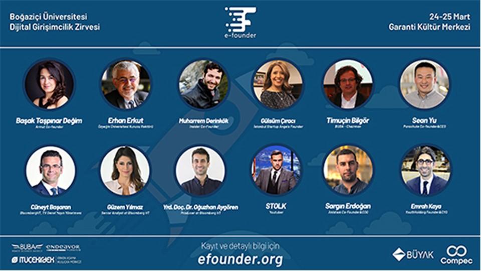 E-Founder Boğaziçi Üniversitesi Dijital Girişimcilik Zirvesi