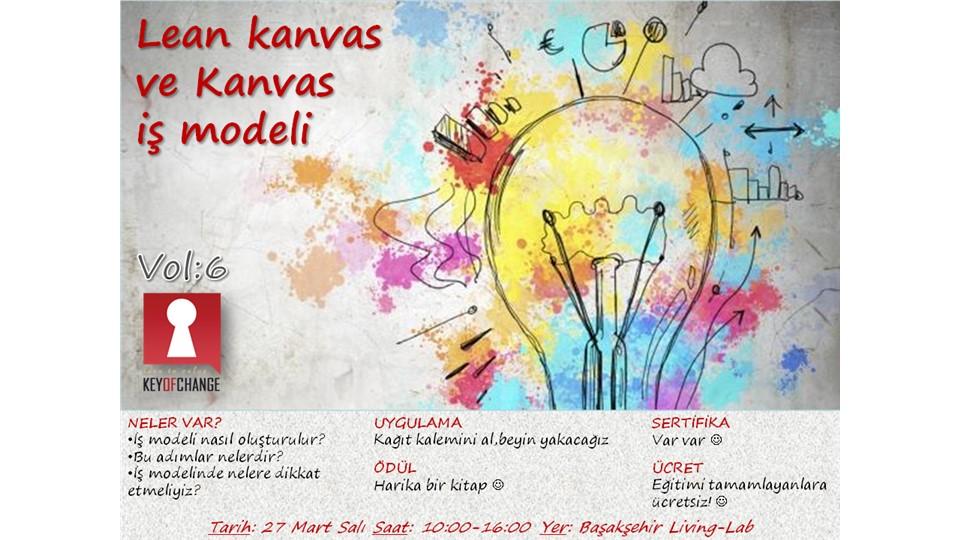 Girişimciliğin Yol Haritası Vol:6 'Lean kanvas ve Kanvas İş Modeli'