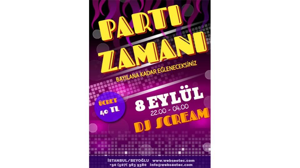 Beyoğlu Dj Scream Parti
