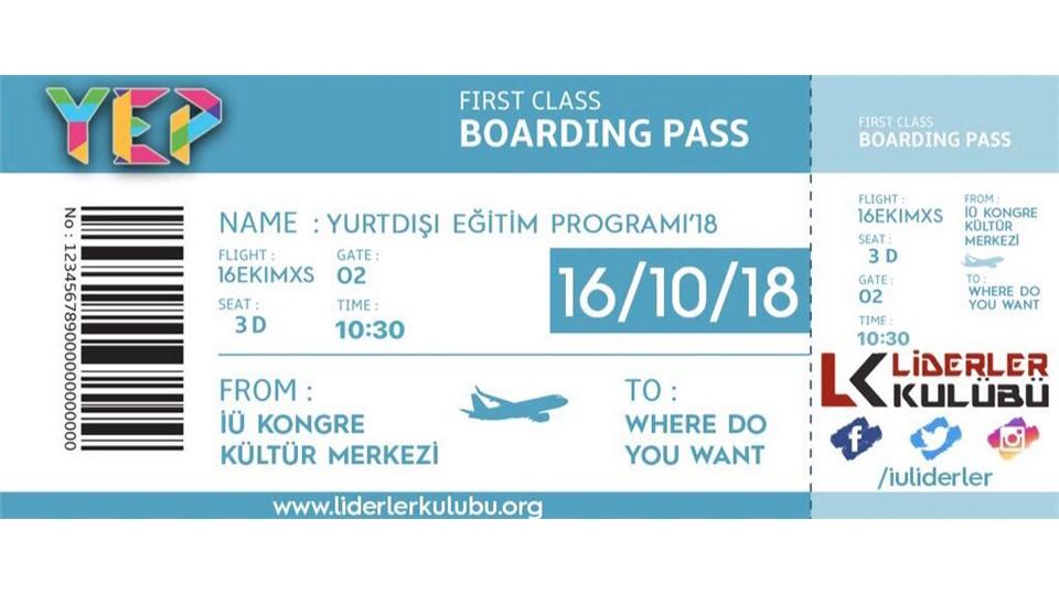 YEP (Yurtdışı Eğitim Programı)