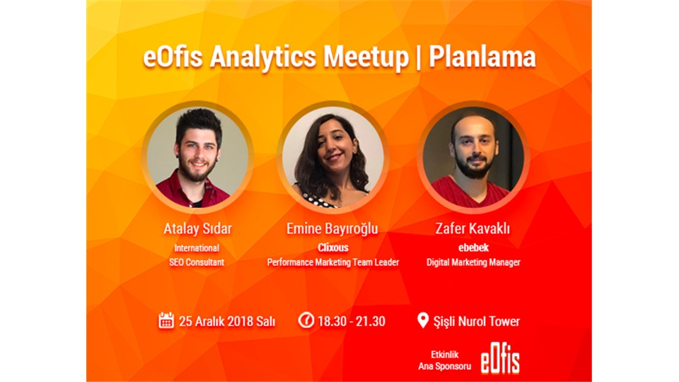 eOfis Analytics Meetup | Planlama