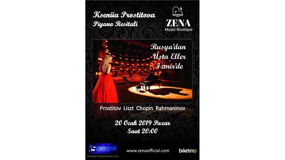Rusya'dan Usta Eller Zena (Kseniia Prostitova) Piyano Resitali - İzmir