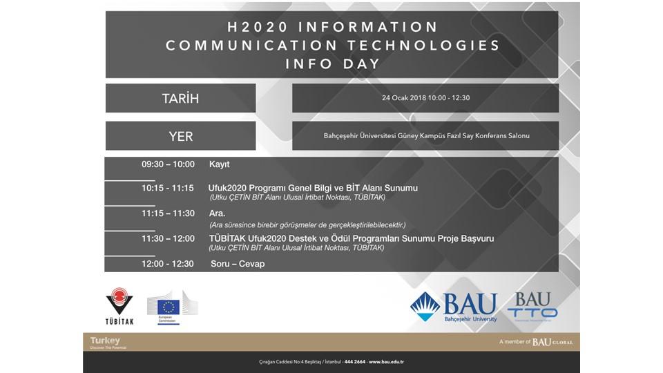 HORIZON 2020 Bilgi ve İletişim Teknolojileri Alanı Bilgi Günü