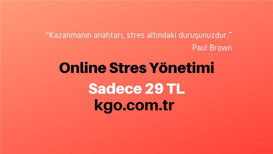 Online uygulamalı stres yönetimi