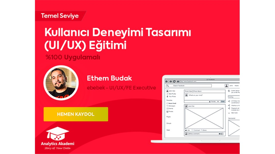 Kullanıcı Deneyimi Tasarımı (UI/UX) Eğitimi (ÜCRETLİ) - %30 Bahar İndirimi