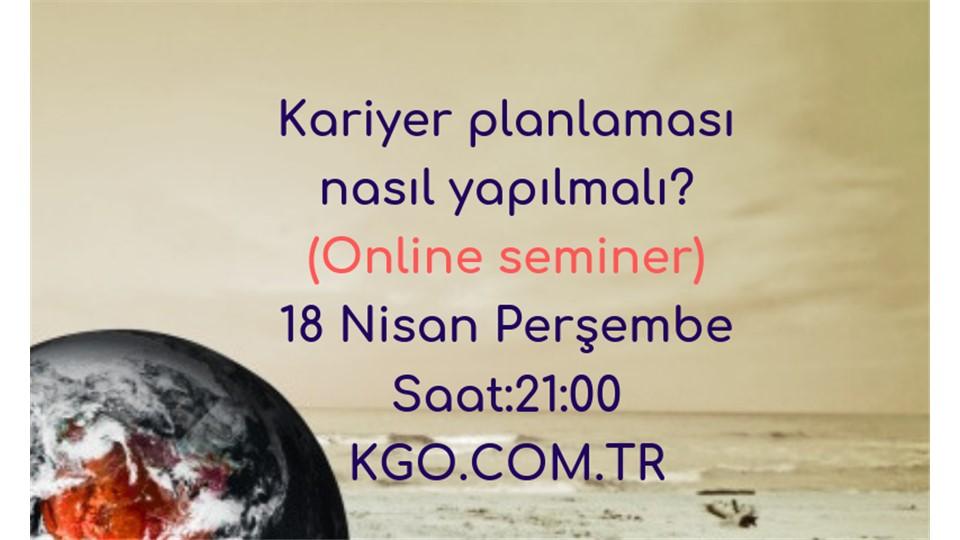 Kariyer planlaması online semineri