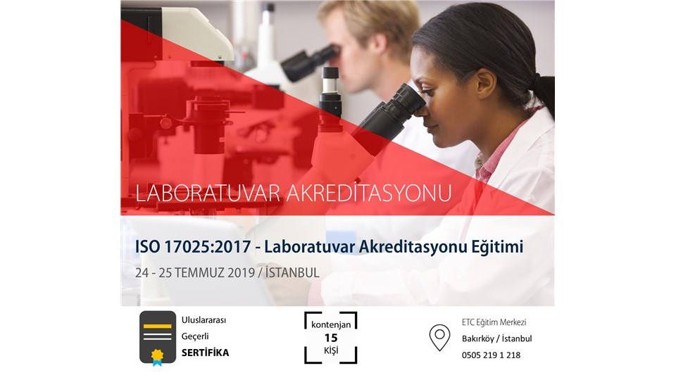 ISO 17025 Laboratuvar Akreditasyonu Eğitimi