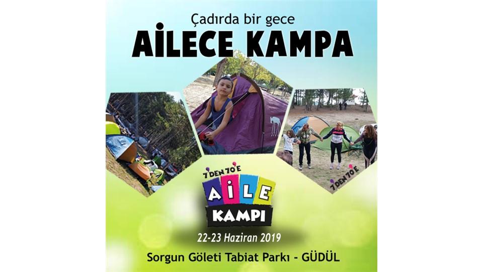 Çocuklu Aile Çadır Kamp