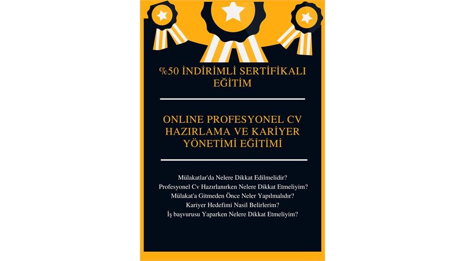 Sertifikalı Online Etkili CV Hazırlama ve Kariyer Yönetimi Eğitimi