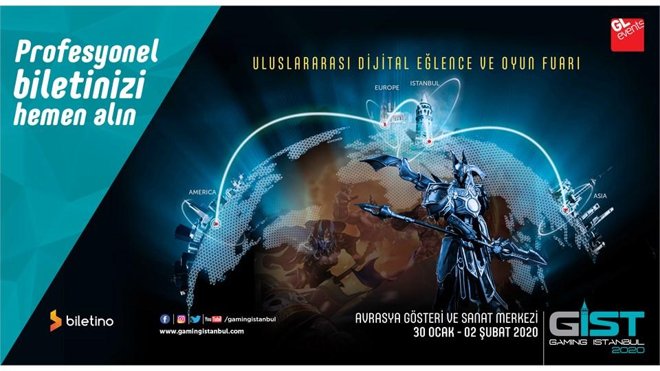 Gaming İstanbul (GIST) 2020  Uluslararası Oyun, Espor ve Dijital Eğlence Fuarı – Profesyonel