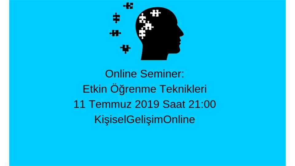 Etkin Öğrenme Teknikleri (Online Seminer)