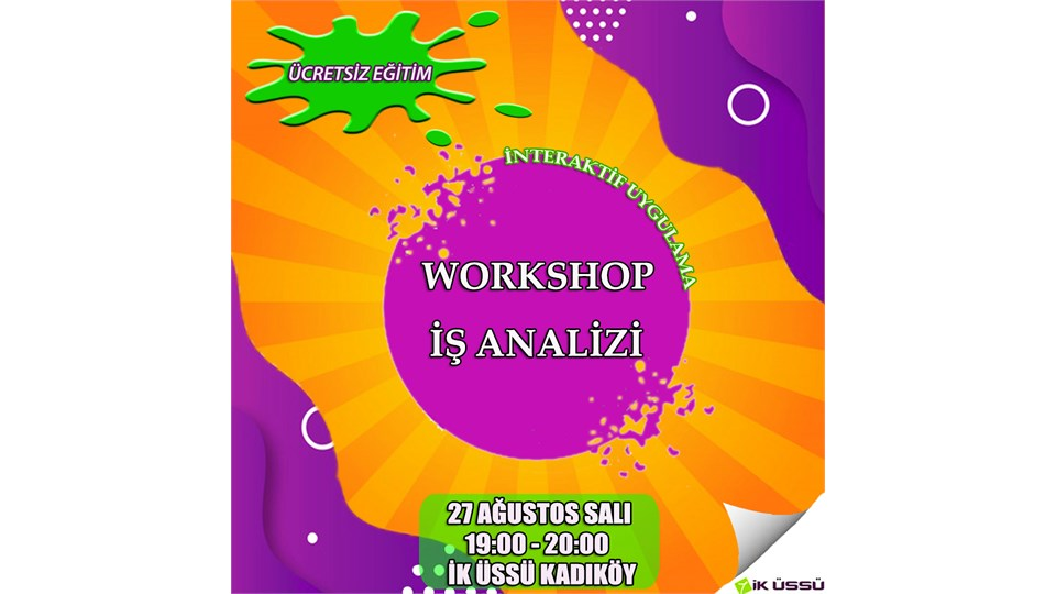 Workshop: İş Analizi