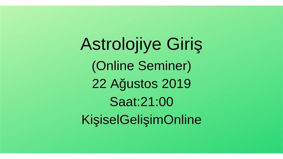Astrolojiye Giriş (Online Seminer)