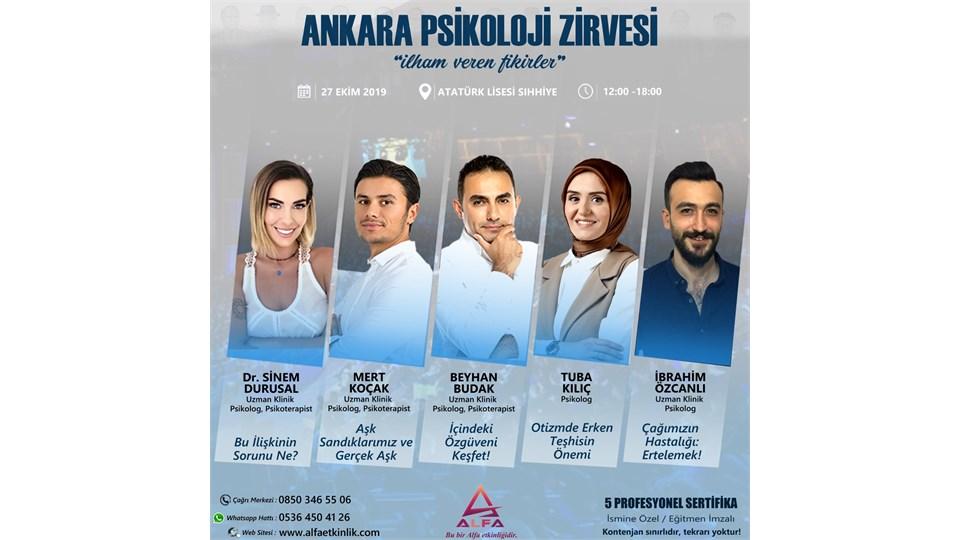 ANKARA PSİKOLOJİ ZİRVESİ / 27 EKİM