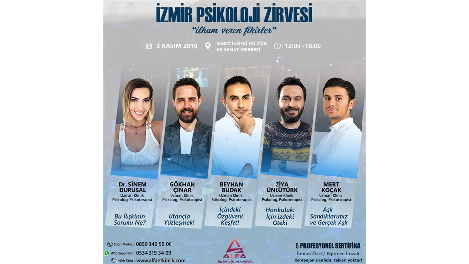 İZMİR PSİKOLOJİ ZİRVESİ / 3 KASIM