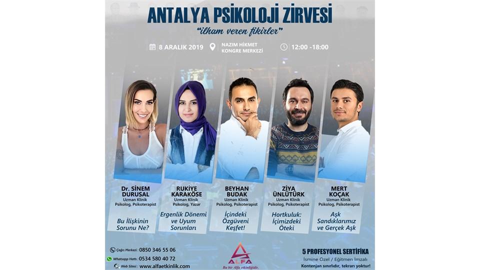 ANTALYA PSİKOLOJİ ZİRVESİ / 8 ARALIK