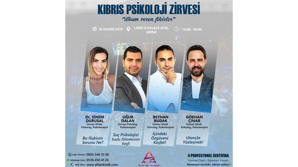 KIBRIS PSİKOLOJİ ZİRVESİ / 10 KASIM