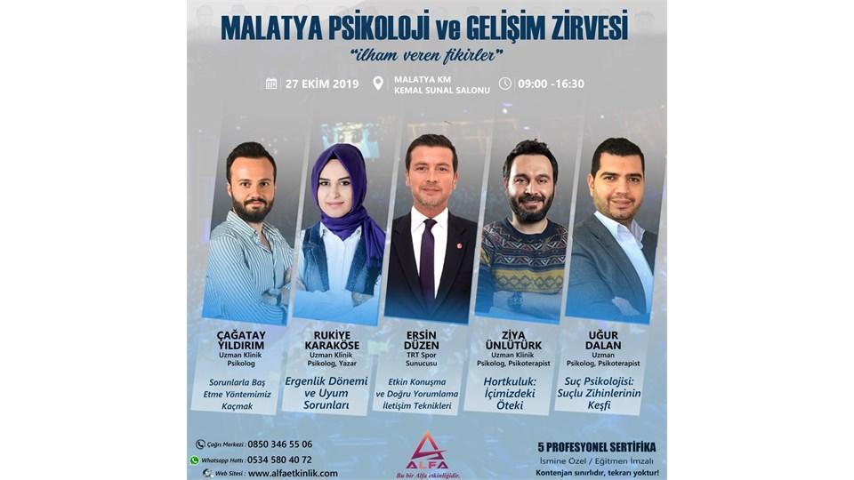MALATYA PSİKOLOJİ ve GELİŞİM ZİRVESİ / 27 EKİM