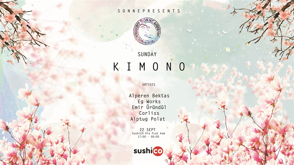 Sonne Presents Sunday Kimono at Sushico Via Flat