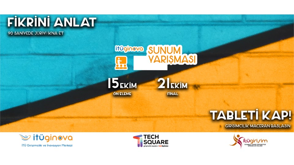 İTÜ GİNOVA Sunum Yarışması