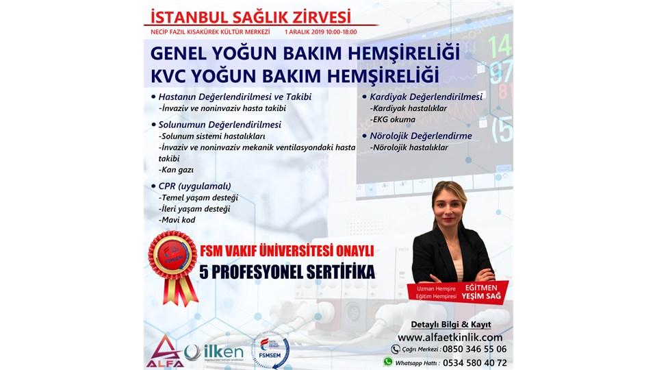 FSM ÜNİVERSİTESİ ONAYLI GENEL ve KVC YOĞUN BAKIM HEMŞİRELİĞİ
