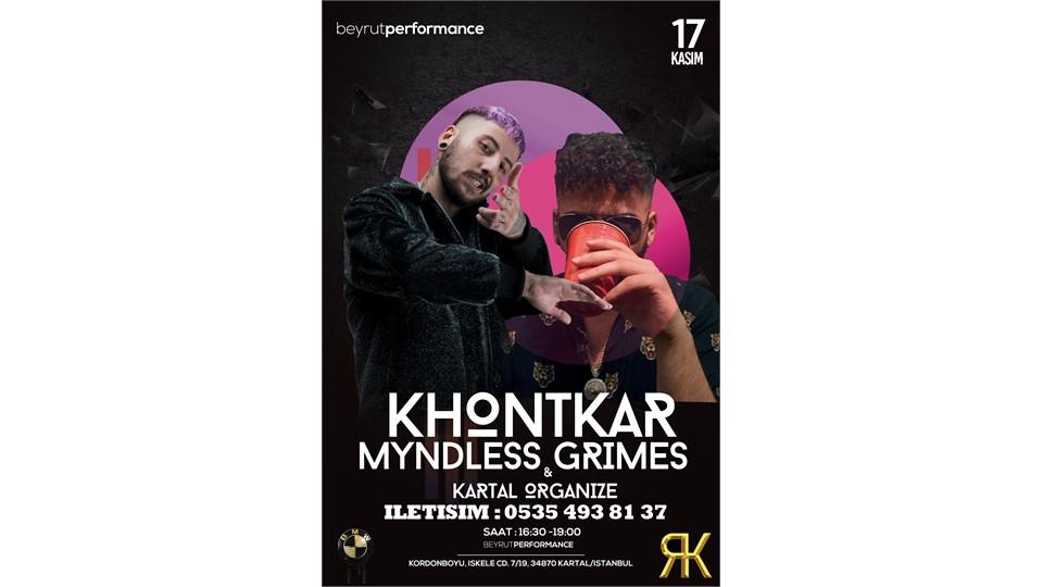 İstanbul - Khontkar & Myndless Grimes Konseri #KartalOrganize #BeyrutPerformans