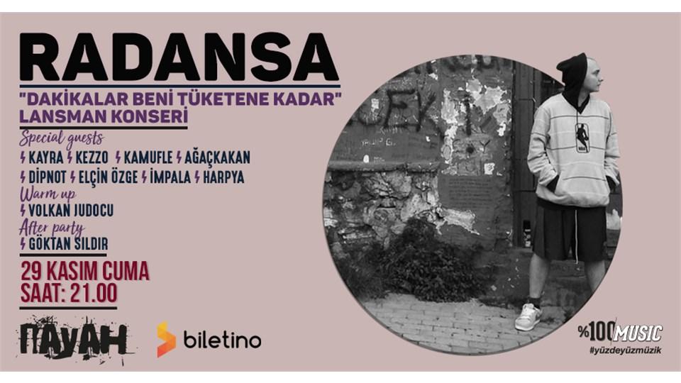 """Radansa """"Dakikalar Beni Tüketene Kadar"""" Lansman Konseri"""