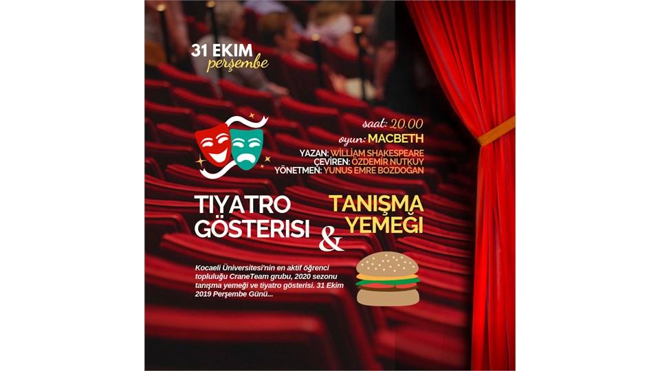 CraneTeam Tanışma Yemeği & Tiyatro Gösterisi
