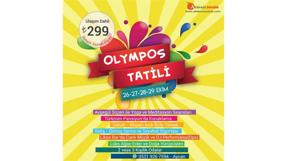 26-27-28-29 Ekim Olympos Tatili