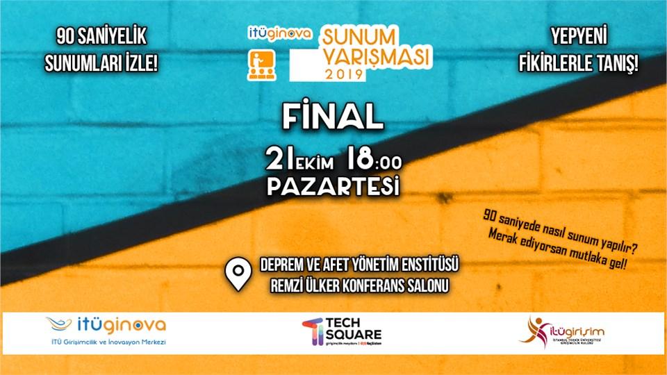 İTÜ GİNOVA Sunum Yarışması Finali