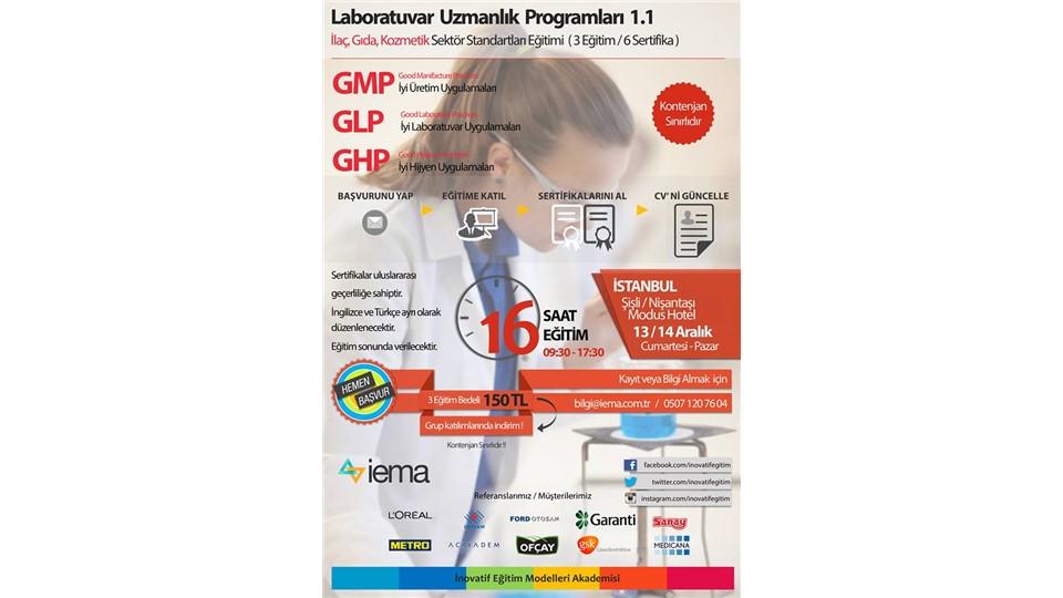 Laboratuvar Uzmanlığı 1.1 Eğitimi