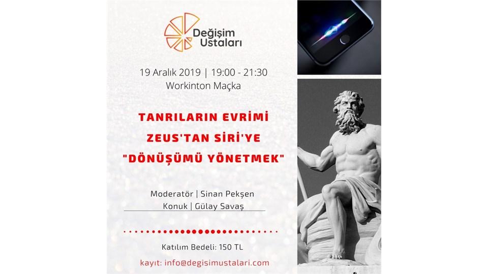 """Tanrıların Evrimi: Zeus'tan Siri'ye """"Dönüşümü Yönetmek"""""""